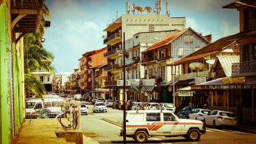 streets of Cayenne, French Guiana