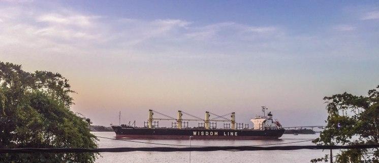 The port of Paramaribo, Suriname