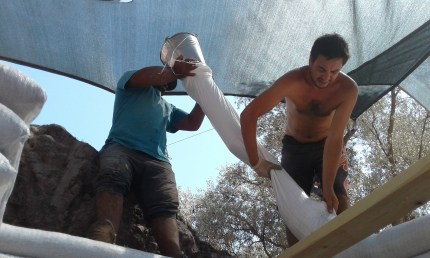 two man building a house in Turkey