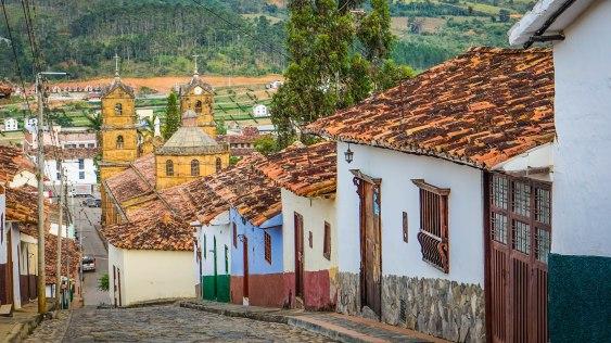 colorful streets in Zapatoca, Colombia