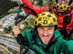 2 men paragliding