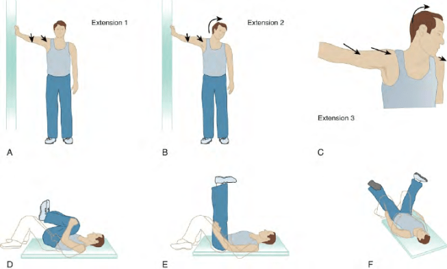 six illustrations of stretching exercises to avoid Cycling Pains