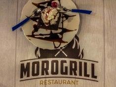 vanilla ice cream with chocolate