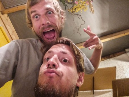 Selfie of Two German brothers at home