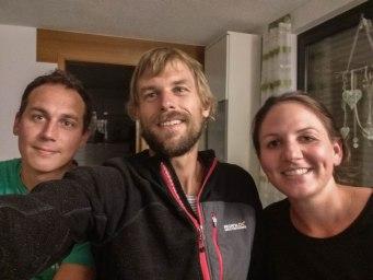 Selfie of three German Friends at Home