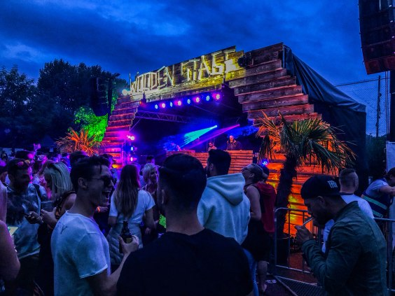 Wooden Stage at a music festival