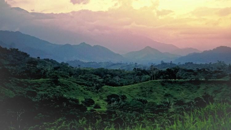 Sunset in near Barinas in Venezuela