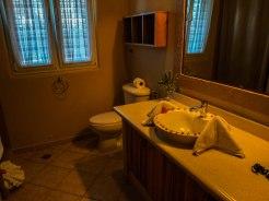 bathroom at the Alisei Hotel