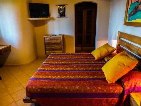 bedroom at the Alisei Hotel