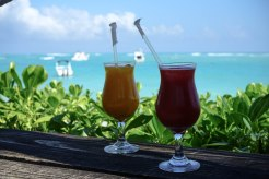 juices with a ocean view