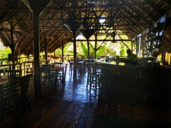 dining area and reception at the Dominican Treehouse Village