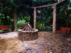 fireplace at the Dominican Treehouse Village