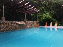 outdoor swimming pool at the Dominican Treehouse Village
