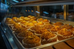 Muffins at the El Buen Cafe in Puerto Rico