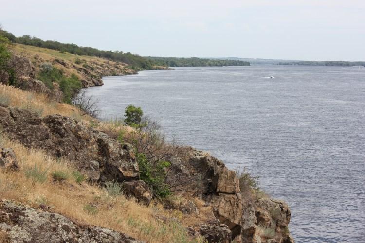 the shore of the Khortytsia Island,Ukraine