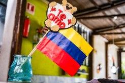 Ecuadorian flag in Restaurante Bio Bamboo