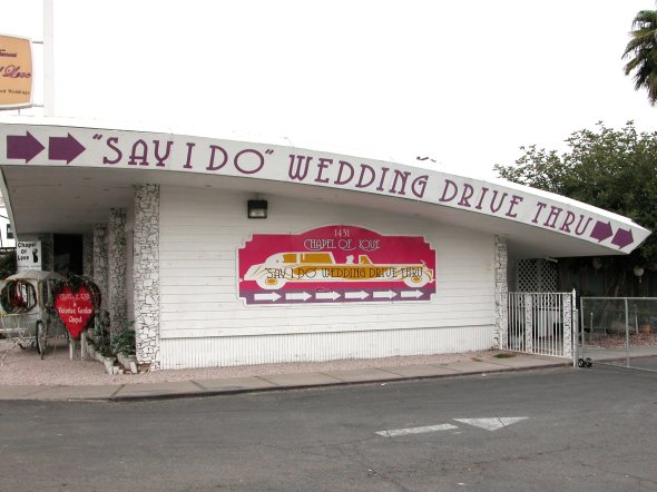 drive thru wedding