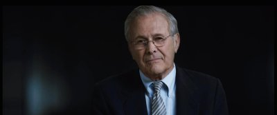 """The Unknown Known"": Donald Rumsfeld throws his hands in the air like he just doesn't care"