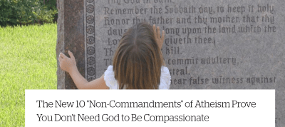 Reminder: Atheism Doesn't Need Rules