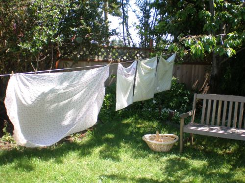 Clotheslines For Small Backyards simple (and beautiful) outdoor clotheslines (part two of a short