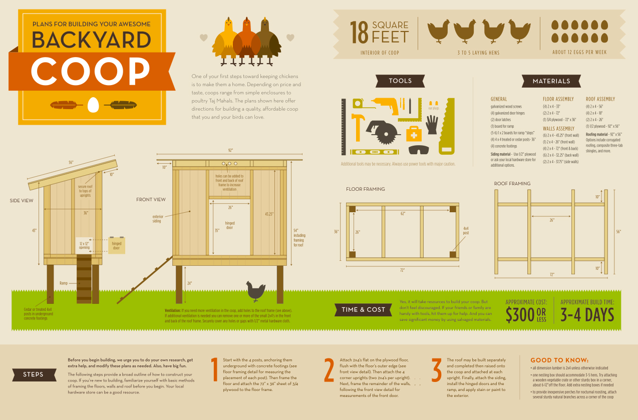 infographic how to build our backyard chicken coop u2013 the tangled nest