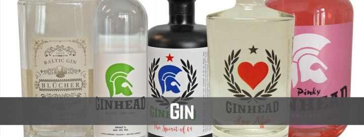 Banner-Produktkategorie Gin auf thetankcompany.de