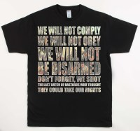 We Will Not Comply Black