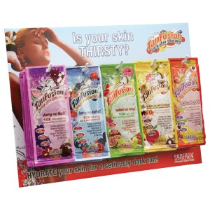 Synergy TanFusion Thirsty Counter Sachet Display Deal