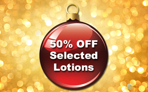 17th – 18th December50% OFF Selected Lotions