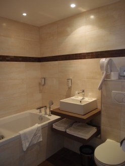 And a newly renovated bathroom. The bathtub has a Jacuzzi function. Yes, the duo have tried it out. Yes, it was awesome.