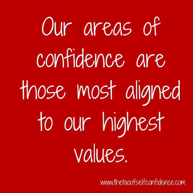 Our areas of confidence are those most aligned to our highest values.