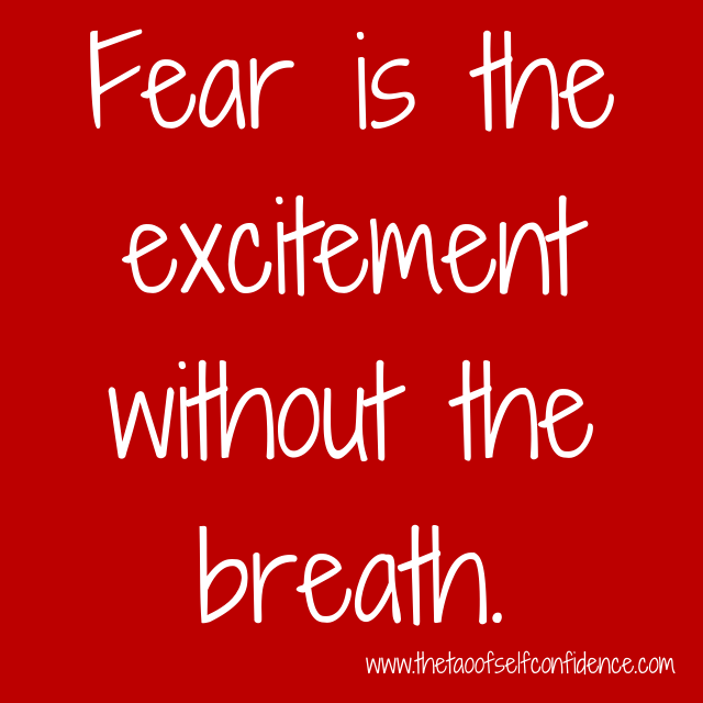 Fear is the excitement without the breath.