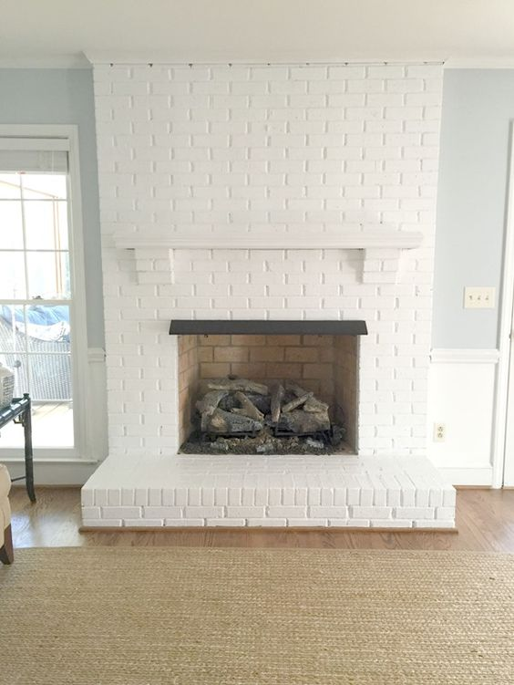 30 stunning white brick fireplace ideas part 1 - How to make a brick fireplace look modern ...