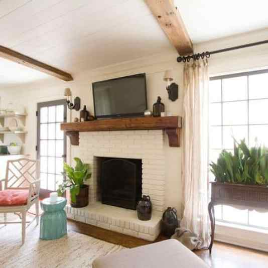 30 Stunning White Brick Fireplace Ideas (Part 1