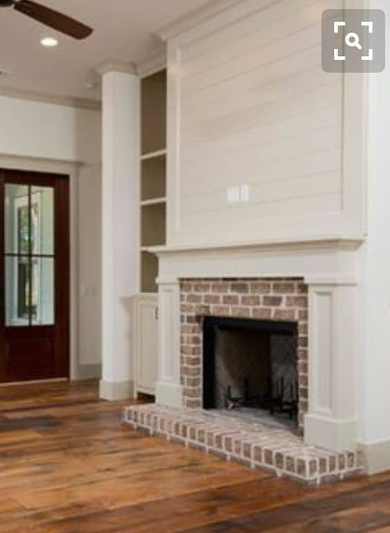 35 gorgeous natural brick fireplace ideas part 2 - Covering brick fireplace with tile ...