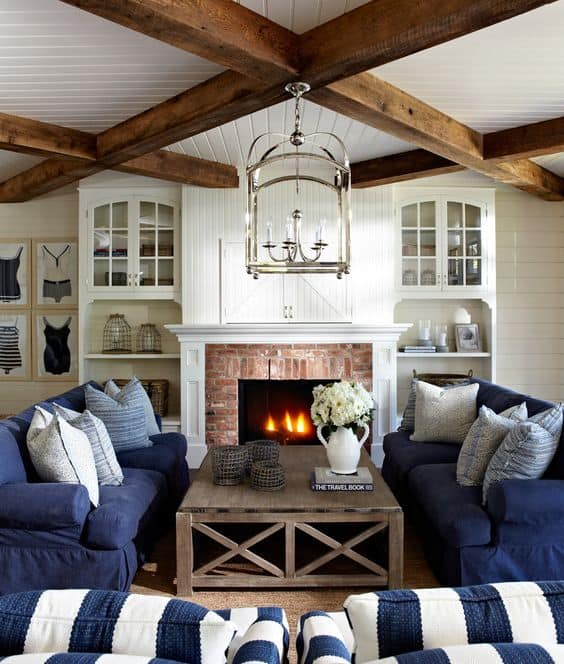 Living Room Decorating Ideas With Red Brick Fireplace: 35 Gorgeous Natural Brick Fireplace Ideas (Part 2
