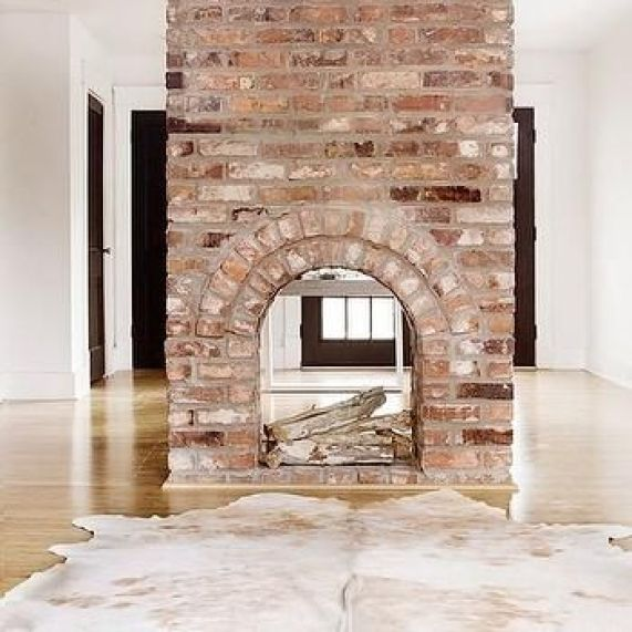 35 Gorgeous Natural Brick Fireplace Ideas Part 2