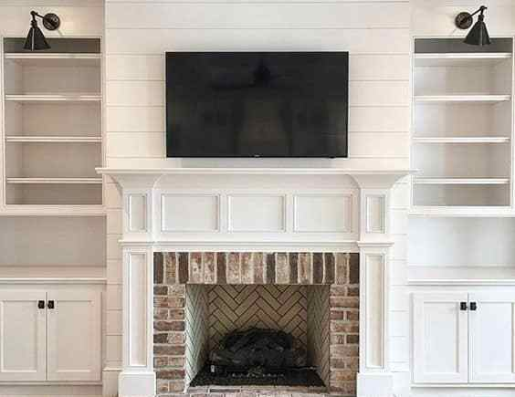 Enjoyable 35 Gorgeous Natural Brick Fireplace Ideas Part 2 Home Interior And Landscaping Synyenasavecom