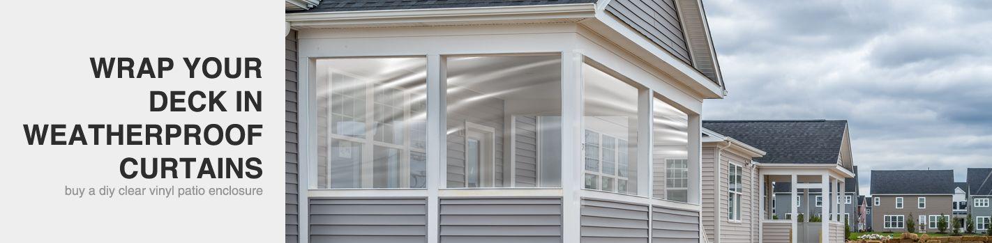 clear vinyl porch enclosures temporary