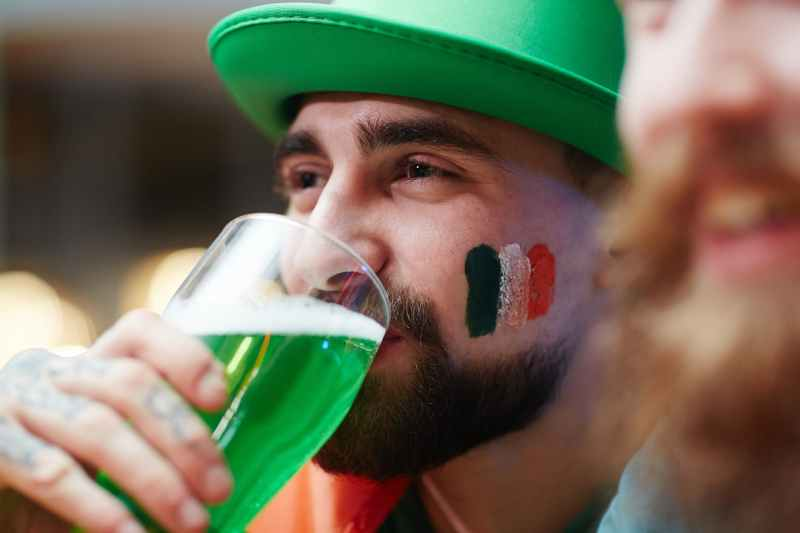 Man Celebrating St. Patrick's Day