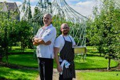 'Orangery Sept 2016 – Executive Chef Martijn Kajuiter and Head Chef Nathan Dimond in the vegetable garden' (1)