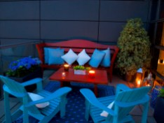The Spencer Penthouse Balcony by night