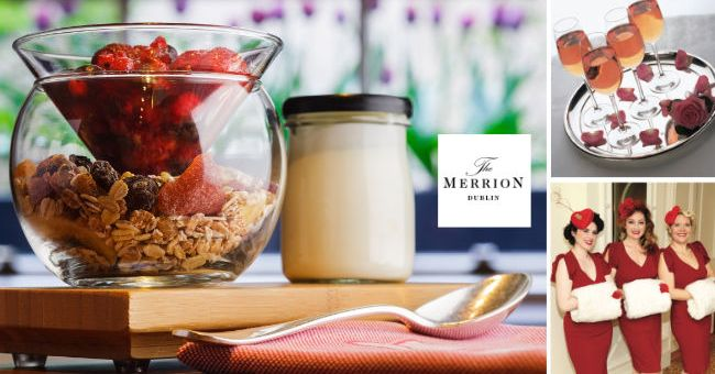 Celebrate the weekend of Love at The Merrion & Win brunch for 4 people in The Cellar Bar - Closed