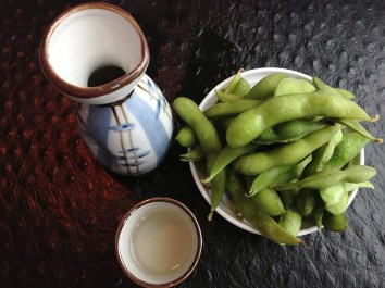 Raw Sushi in the Salted Edamame Beans