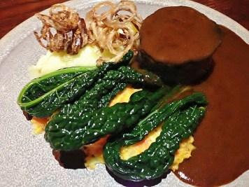 Beef Shin, Kale & Crispy Onions