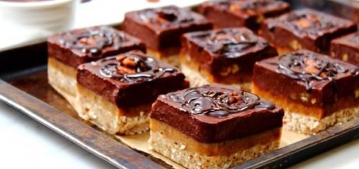 Peachy Palate Chocolate caramel pecan squares