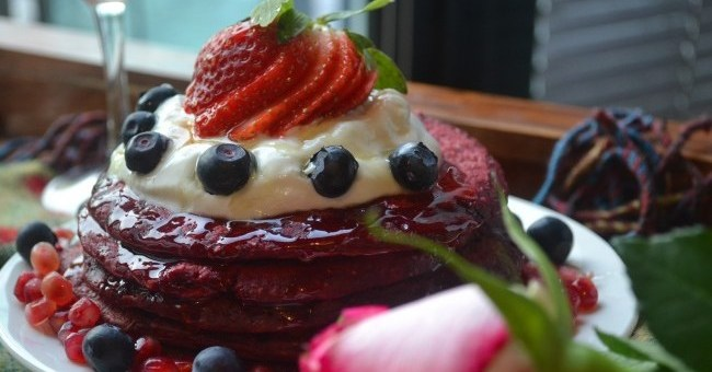 My Nutrition Red Velvet Pancakes
