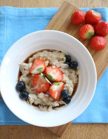 Wonky Spatula Creamy Almond Porridge