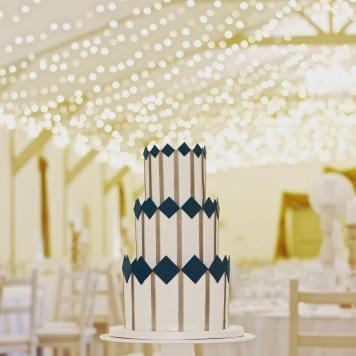 The Wedding Cake Boutique Geometric Wedding Cake