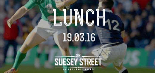 Suesey Street irl scot rugby lunch